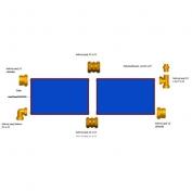 Propojovací sada pro nerez hadice 4 kolektory Suntime 1.2
