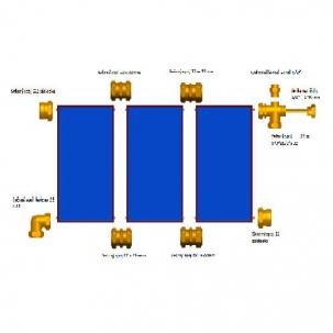 Propojovací sada pro Cu trubky 4 kolektory Suntime 2.1
