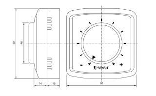 Manuální ovladač vnitřní teploty pro regulaci EFx