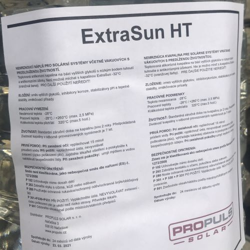 Solární kapalina ExtraSun HT 5 litrů v PET kanystru
