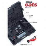 Montážní kufr AKU sada (AKU-lis Cats 300, nabíječka, nástavce na DN 8, 12, 15, řezák Cats)